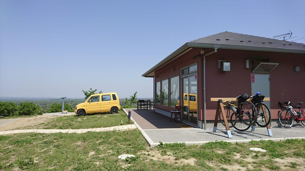 見晴らしカフェと自転車