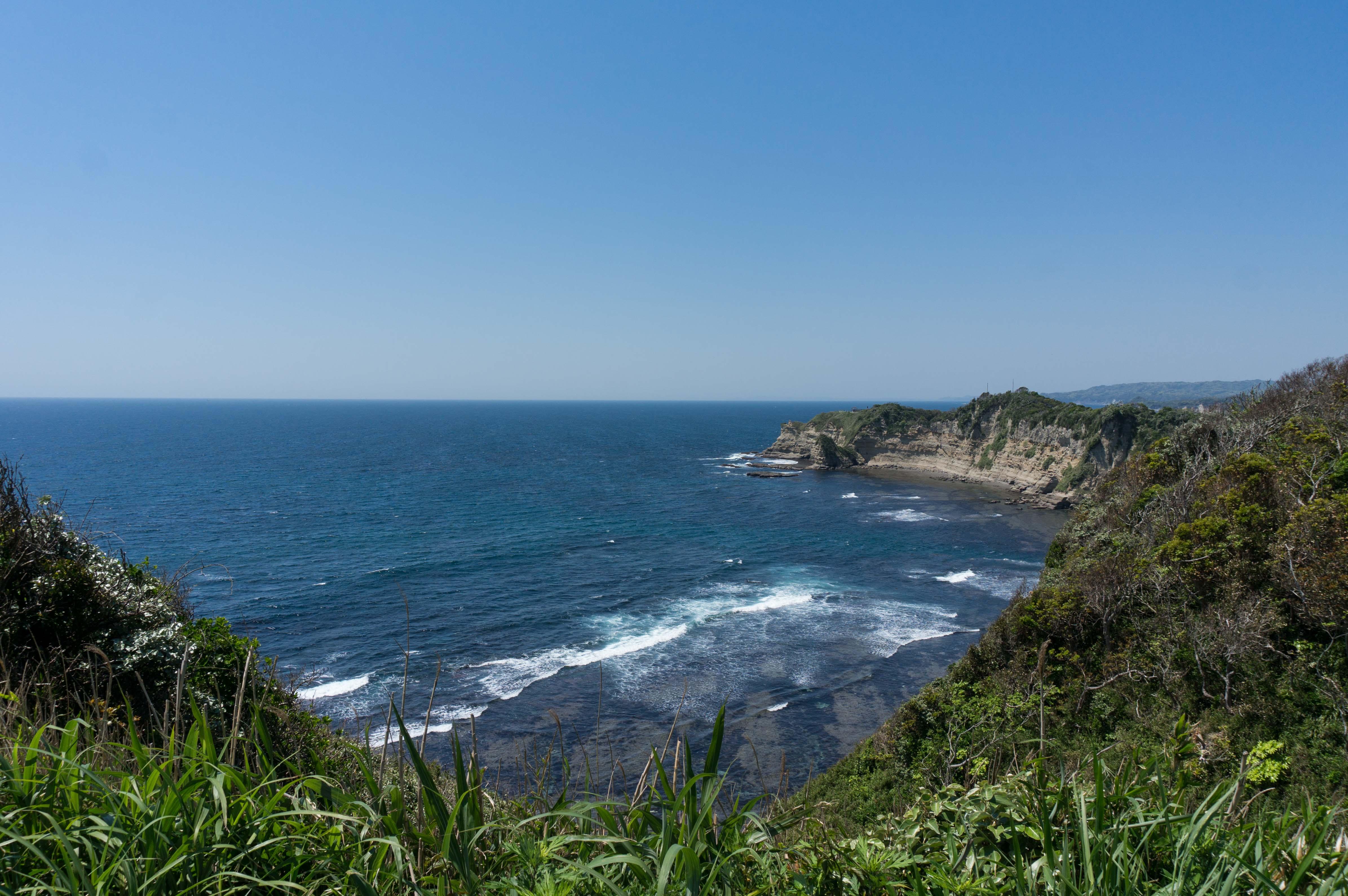 勝浦の八幡岬が見えるスポット