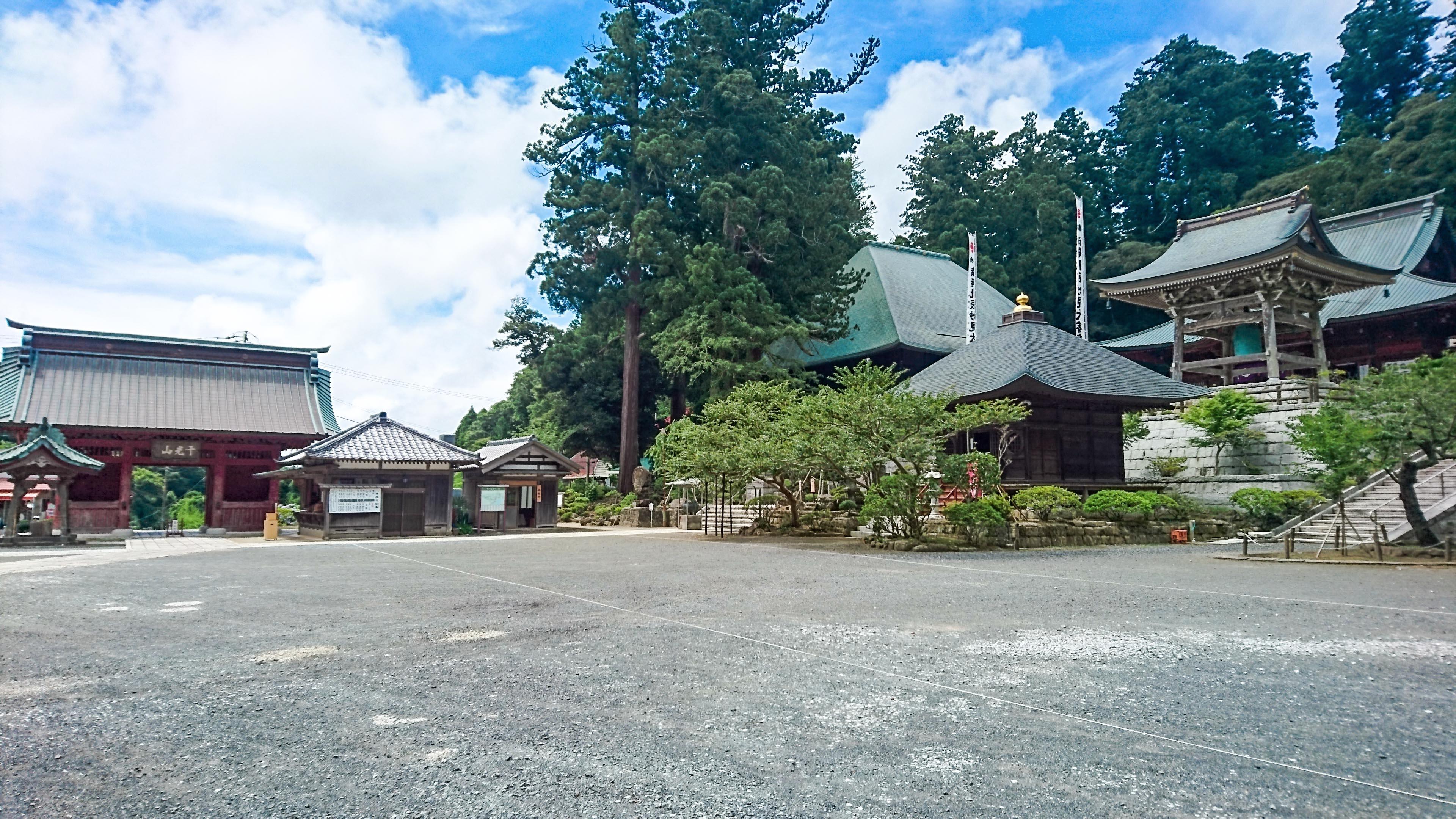 清澄寺の境内の風景