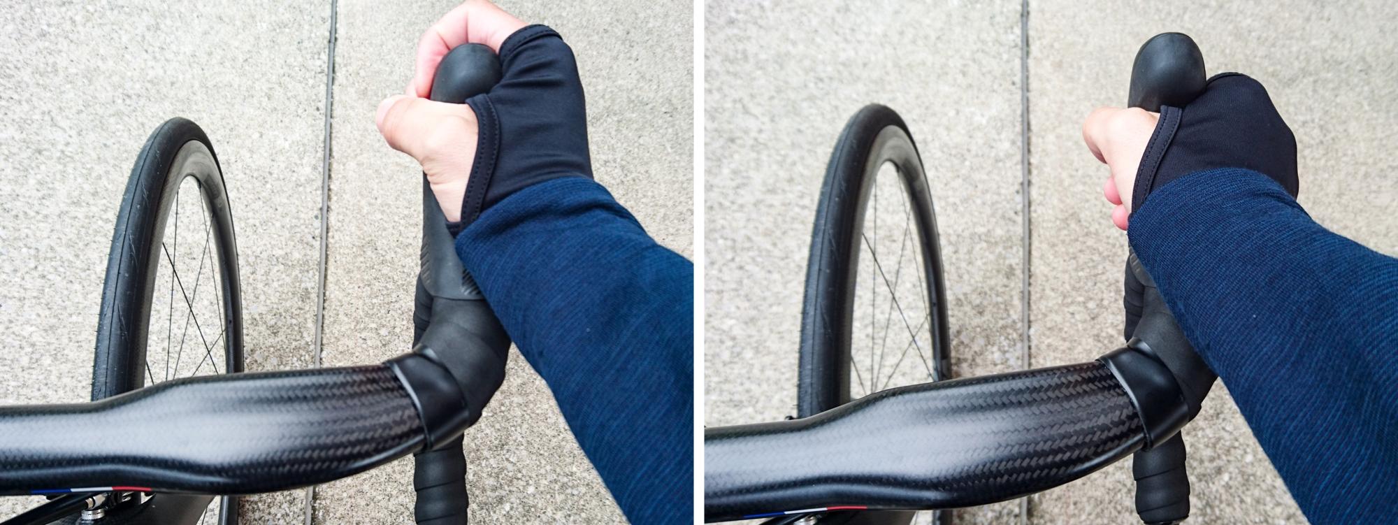 自転車STI・ブラケットの形状の比較