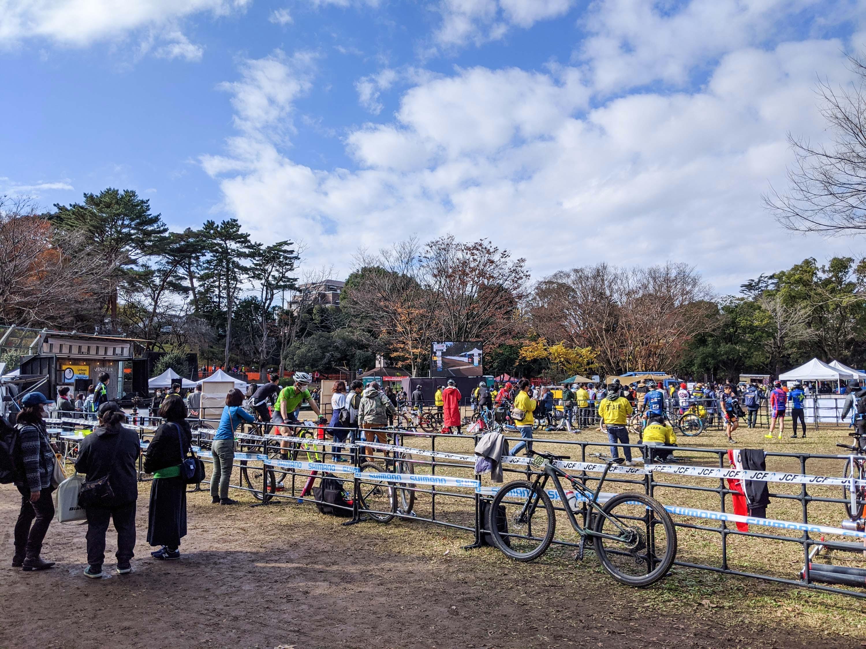 千葉公園でMTB自転車大会の様子