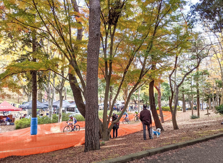 千葉公園で自転車レース
