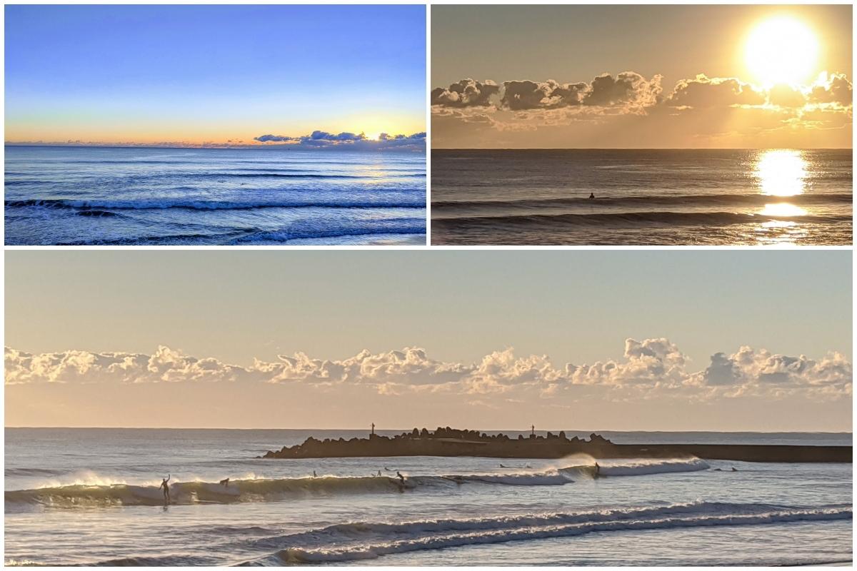 サーファーと海、一宮海岸、サーフィンしてる人